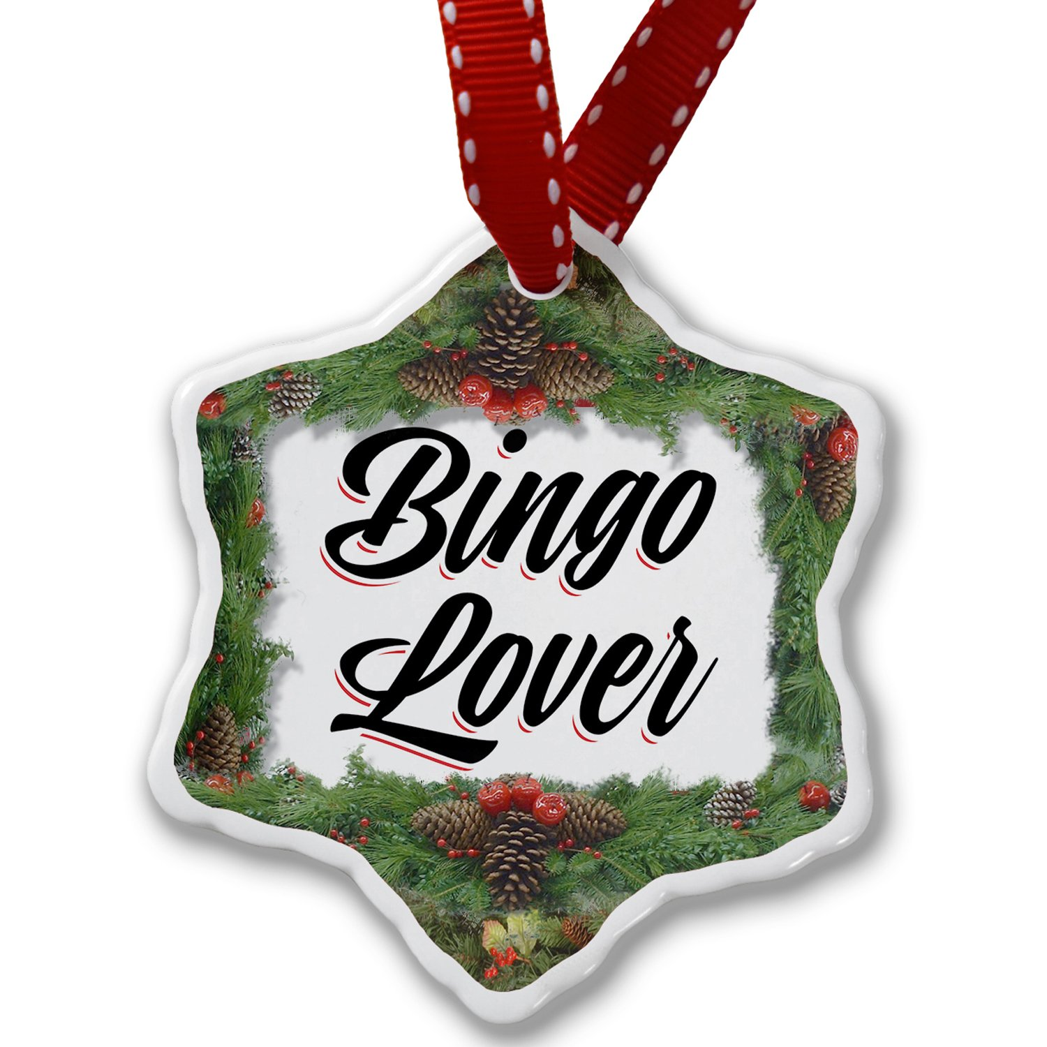 Christmas Ornament Vintage Lettering Bingo Lover - Neonblond by NEONBLOND