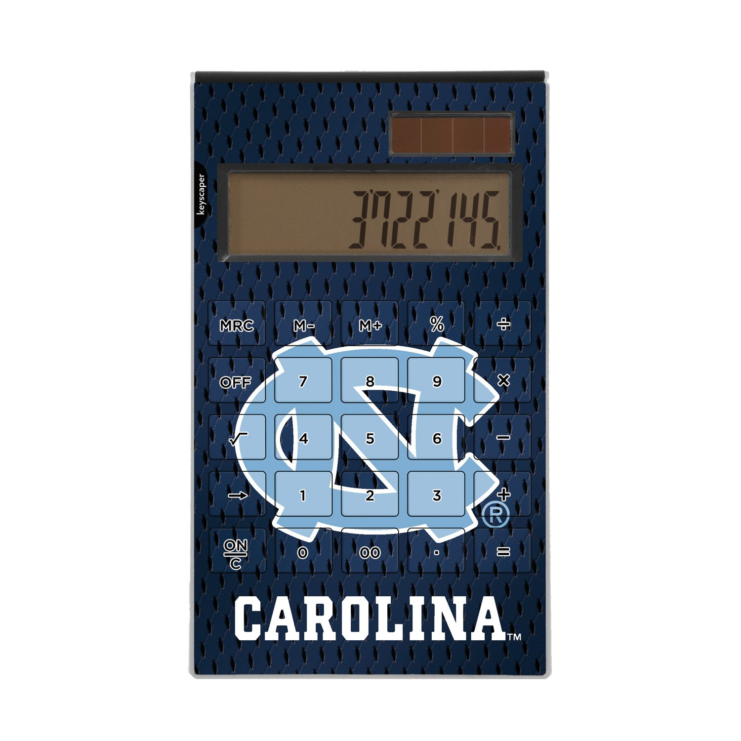 North Carolina Tar Heels Desktop Calculator officially licensed by the University of North Carolina Full Size Large Button Solar by keyscaper® by Keyscaper