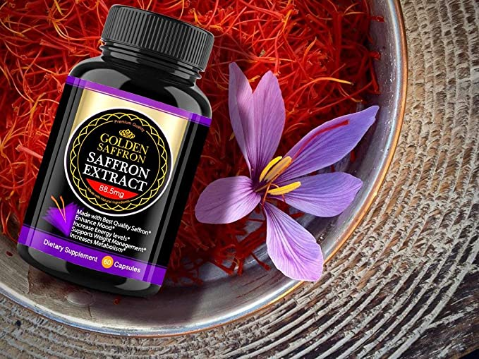 Amazon Com Golden Saffron Saffron Extract 8825 Vegetarian Best All Natural Appetite Suppressant That Works 88 5 Mg Per Capsule Manufactured By Highest Quality Saffron Non Gmo 30 Day Supply Health Personal Care