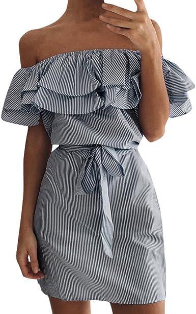 Vestino Donna Tunica-Vestito Mini Abito-Jeans-look a Maniche Corte Tunica Abito Estivo