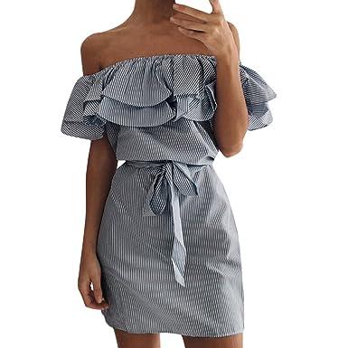 d2d522bec8691a Damen Sommerkleider Frauen Dress Ärmelloses Minikleid Frühling Herbst  Abendkleid Backlos Partykleid A Line Vintage Cocktailkleid Verband