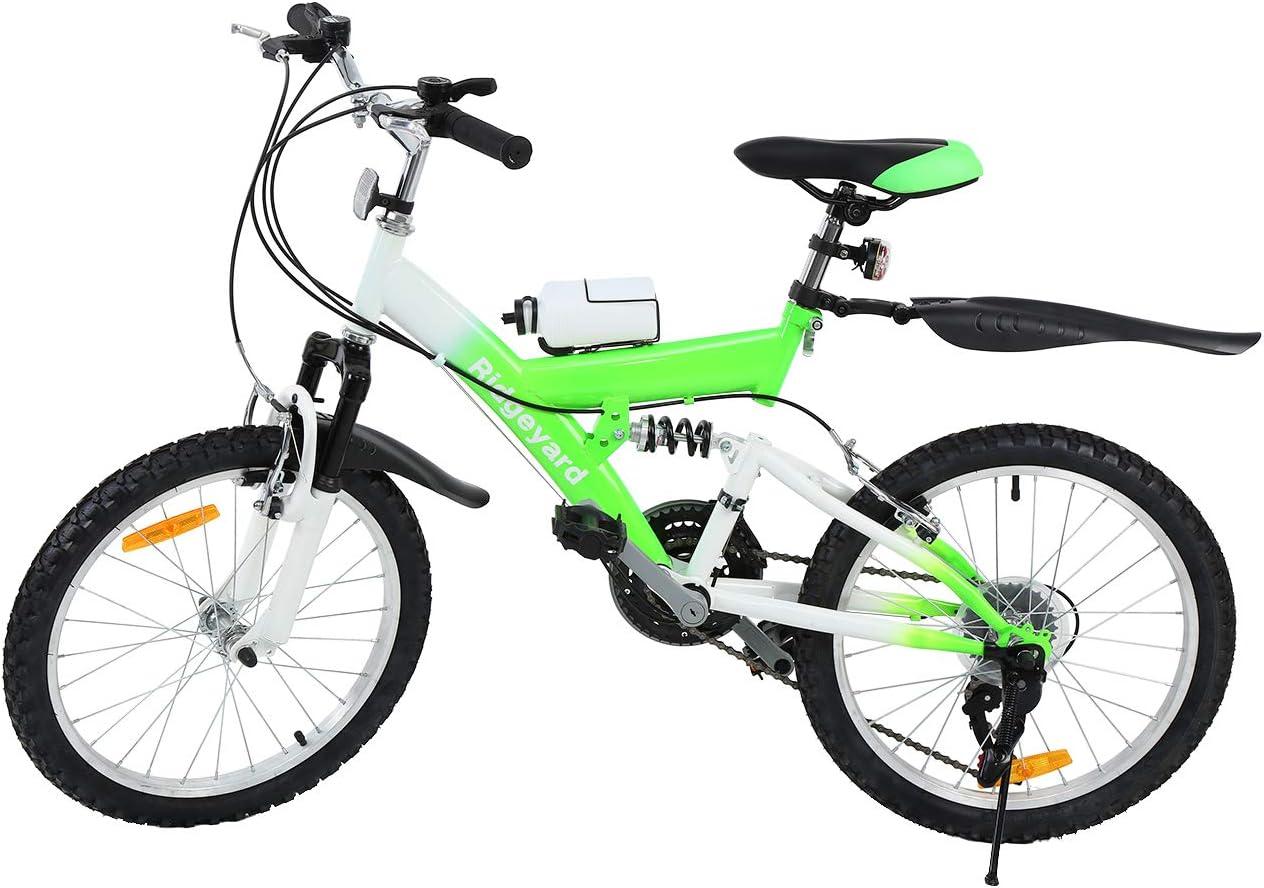 MuGuang Bicicleta de Montaña 20 Pulgadas Bicicleta Infantil 6 Speed Come with 500cc Kettle para Niños de 7 a 12 Años