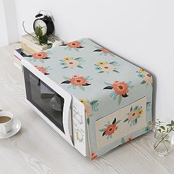 Cubierta del horno de microondas Guardapolvo Casa Horno eléctrico Cubierta de tela Algodón y lino De