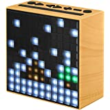 Divoom Timebox Smart Portable Bluetooth LED Speaker with APP-Controlled Pixel Art Animation, Notification and Build- In Clock/ Alarm - Ivory wood