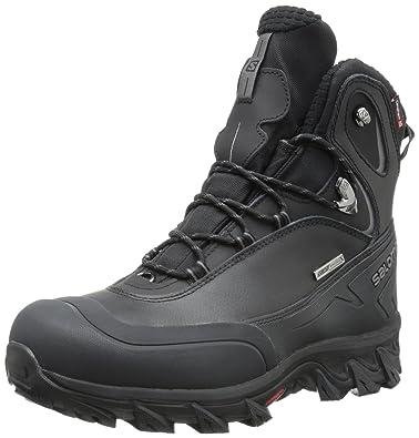 Salomon Men's Anka CS Waterproof Snow Boot,Black,8 ...