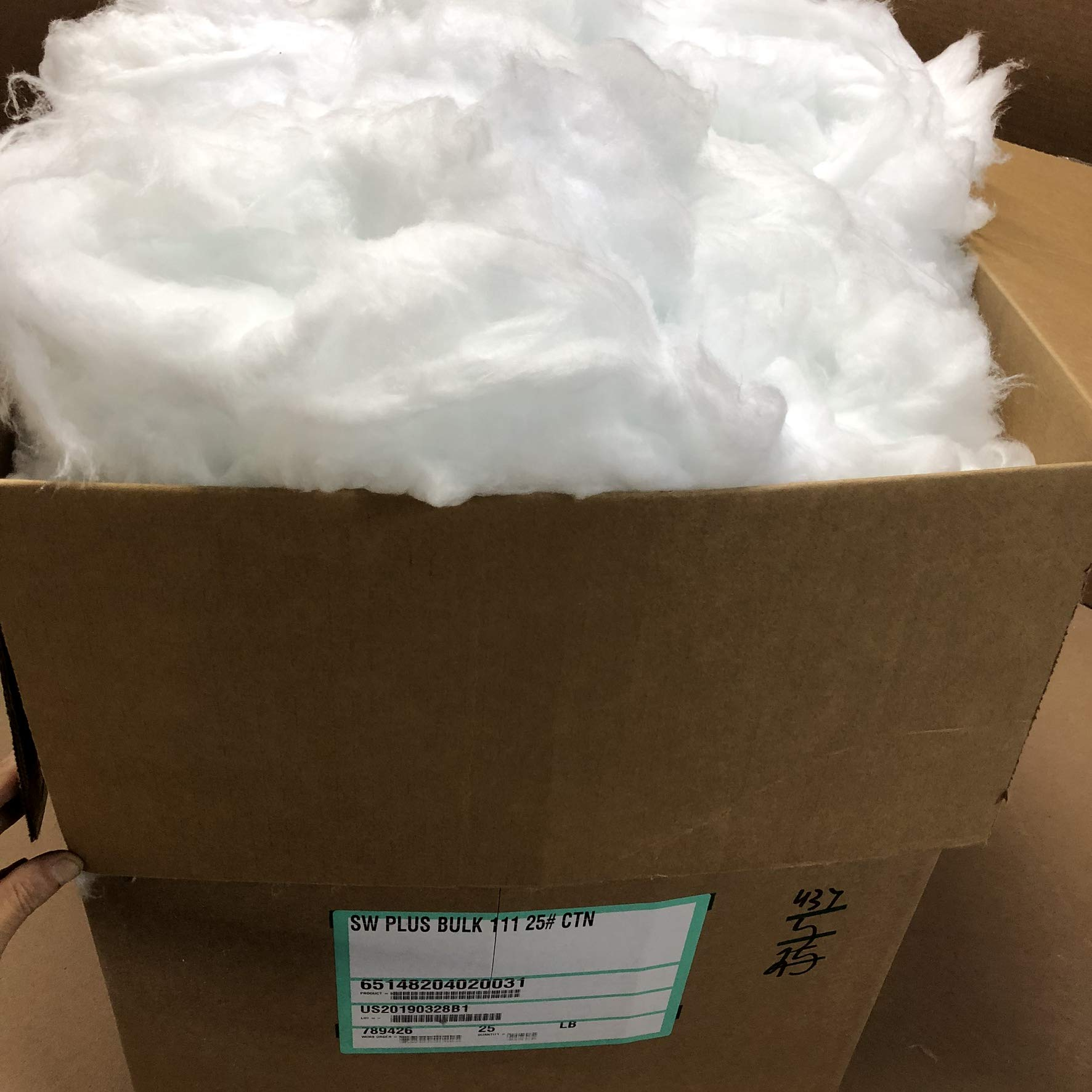 Lynn Manufacturing Bulk Fiber, Superwool Plus, Morgan Thermal Ceramics, Lubricated, 25lb Carton by Lynn Manufacturing
