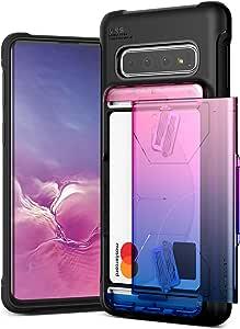 Galaxy S10 Case VRS Design Slim Hybrid Premium Wallet Case Card Slot Holder Shockproof [Damda Glide Shield] [Solid Pink Blue] Gradient Color Compatible with Galaxy S10 6.1 inch (2019)