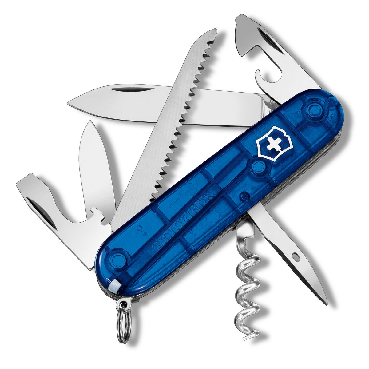 Victorinox Swiss Army Camper Pocket Knife, Sapphire by Victorinox
