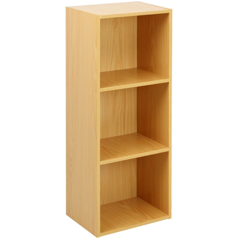 Oypla 3 Tier Wooden Shelf Beech Bookcase Shelving Storage Display Rack