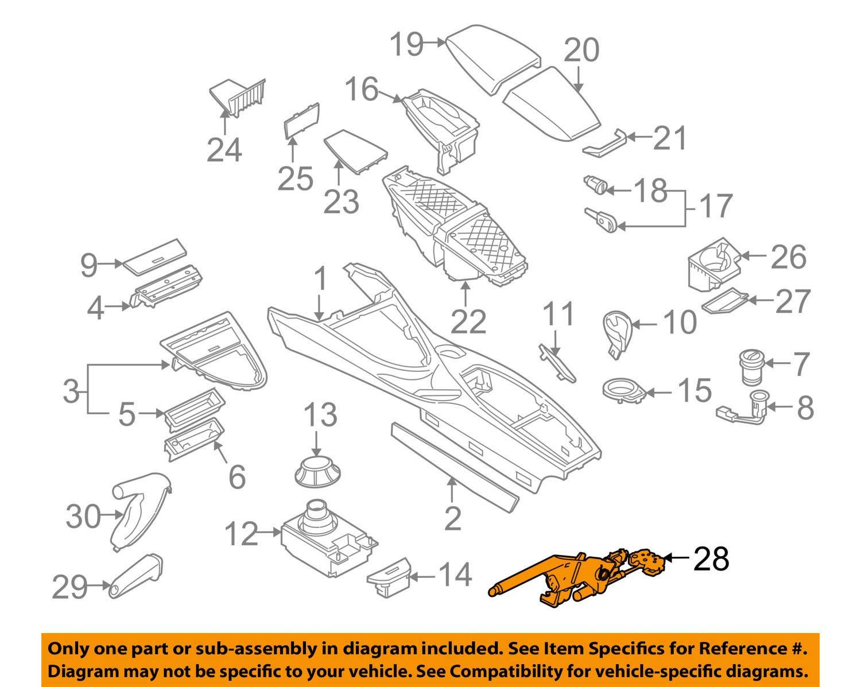 BMW OEM 06-10 M6-Parking Brake Lever 34406775490