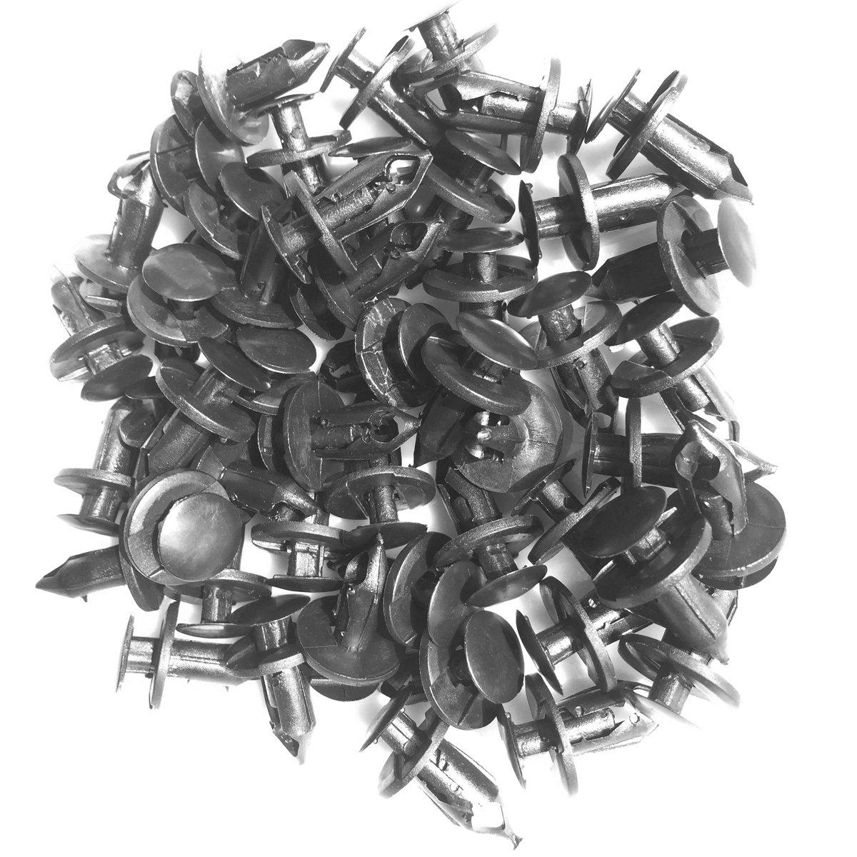 50 Pieces Universal Nylon Plastic Fastener Rivet Clips 8mm LTC28 Lantee Car Clips
