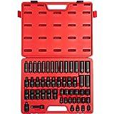 Sunex 3351 3/8-Inch Drive Metric Impact Socket Set, Metric, Shallow/Deep, Universal Joint, 6-Point, Cr-Mo, 7mm - 22mm, 51-Piece