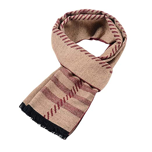 d38aa28716736 Mens Soft Scarf For Autumn And Winter,Simple And Elegant Long Thick Plush  Scarf (