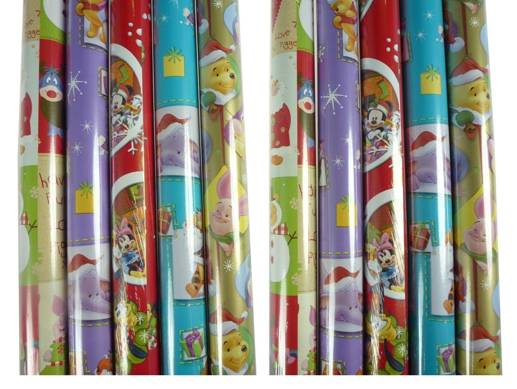 200 x 70 cm Weihnachten 5 Rollen DISNEY Weihnachts Geschenkpapier