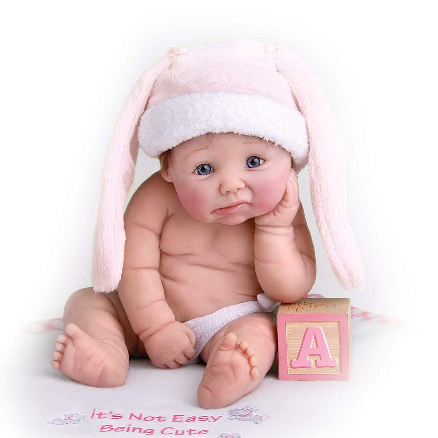 Ashton Drake 'It's Not Easy Being Cute' - Lifelike Miniature Baby Doll by Sherry Rawn - Artist's Resin