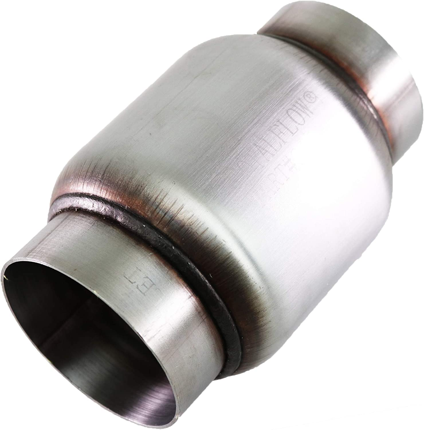 "TOTALFLOW 644 Mini Muffler 409SS | 3.5"" Round Width 
