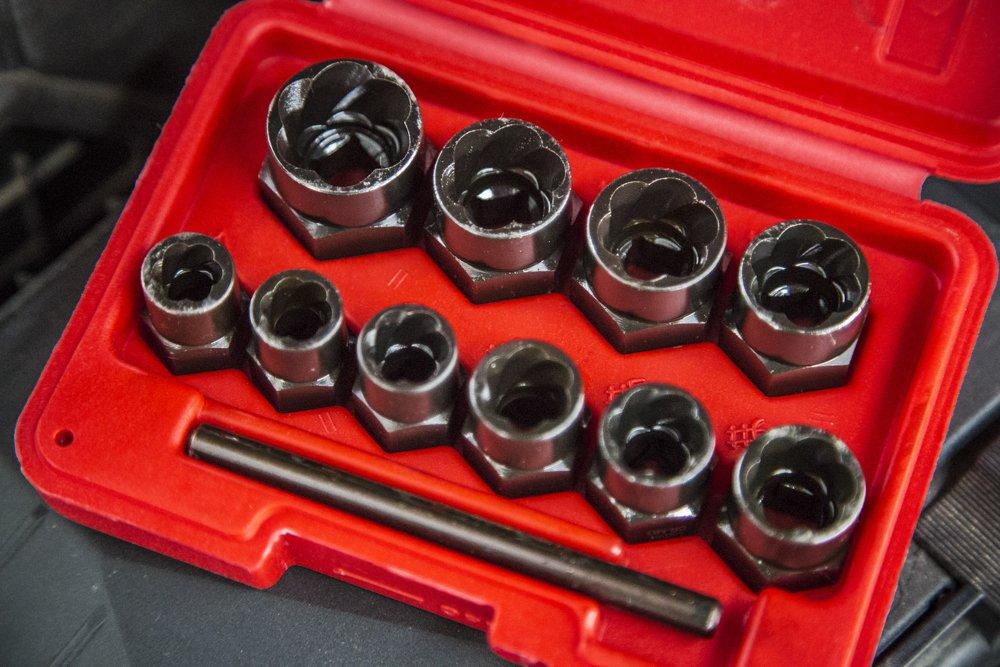 Blue Spot Tools 01539 perno Remover, Negro, Set de 10 piezas Set de 10piezas