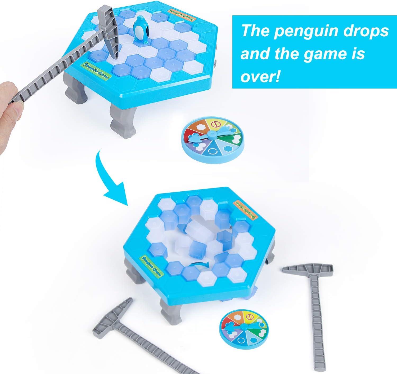 iNeego Pinguino Gioco Pinguino Trappola Pericolo Pinguino Ice Pick Sfida Divertimento per Famiglie Gioco per Bambini Salvare la Trappola Pinguino Rompighiaccio Gioco Pinguino Piccolo