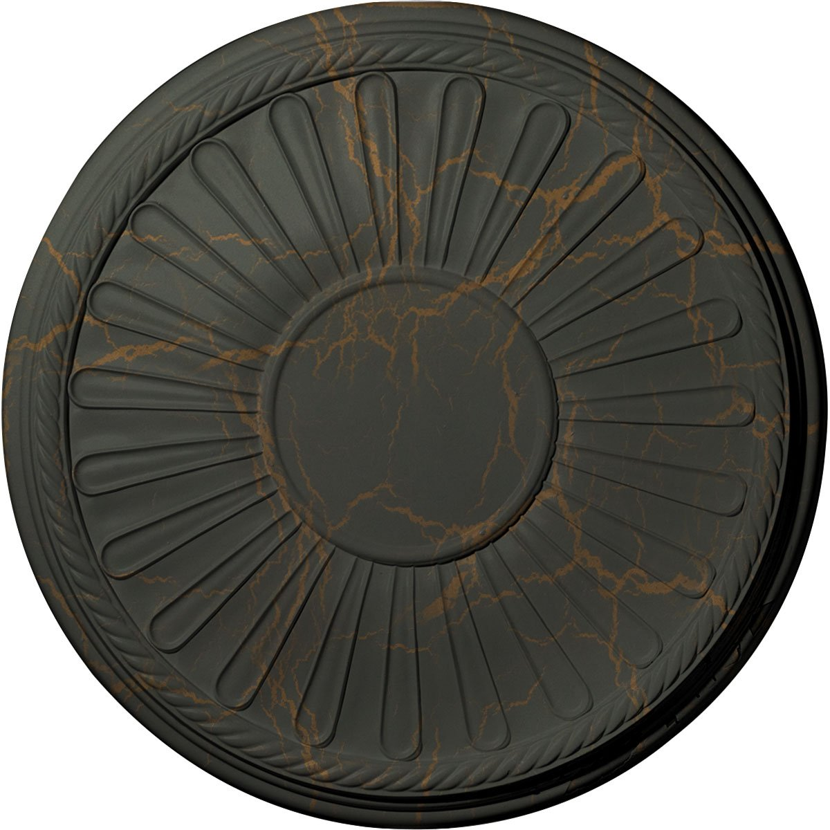 Ekena Millwork CM22LNWHC Leandros Ceiling Medallion, Witch Hazel Crackle