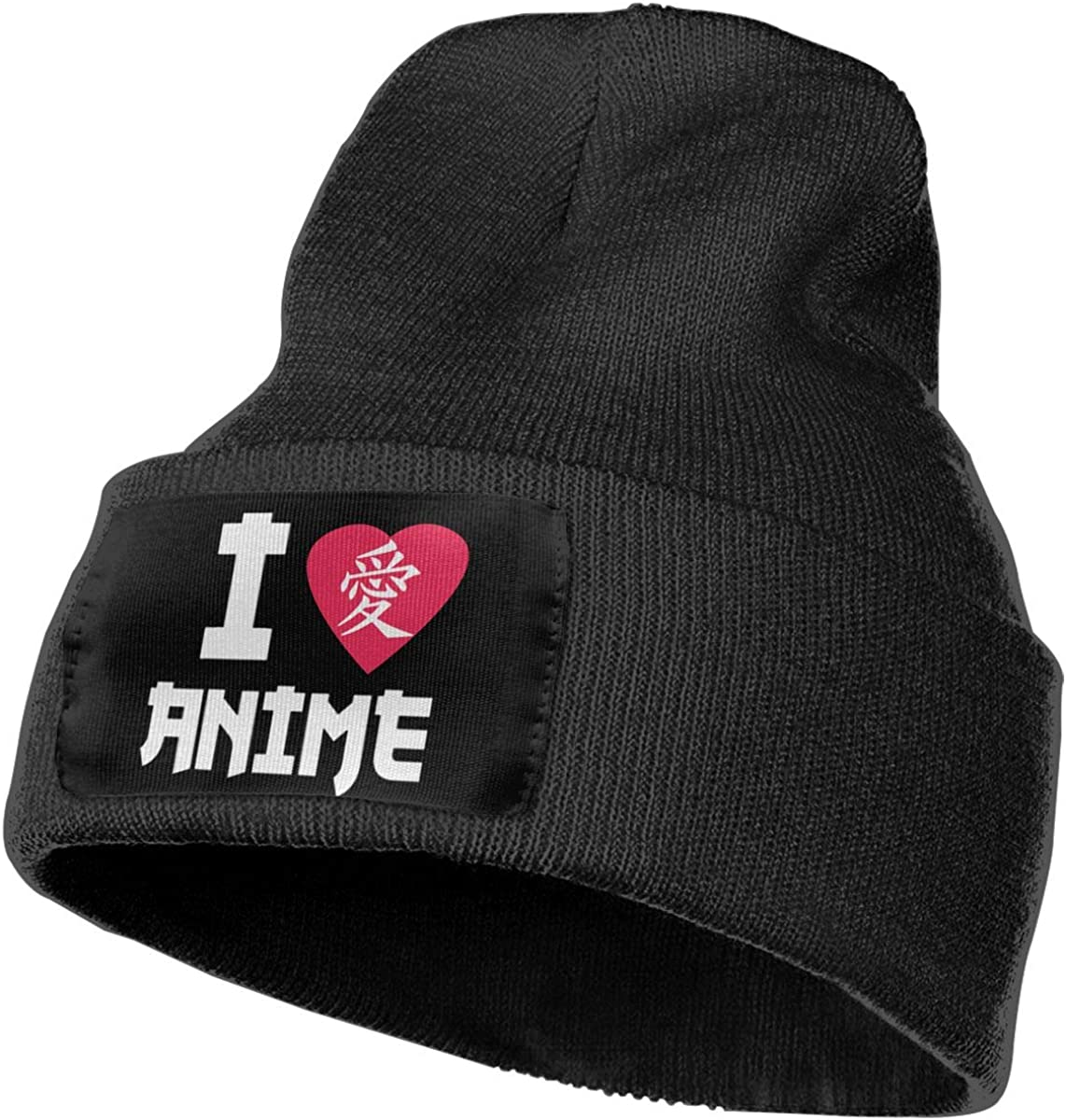 I Love Anime in Japanese Lover Warm Winter Hat Knit Beanie Skull Cap Cuff Beanie Hat Winter Hats for Men /& Women