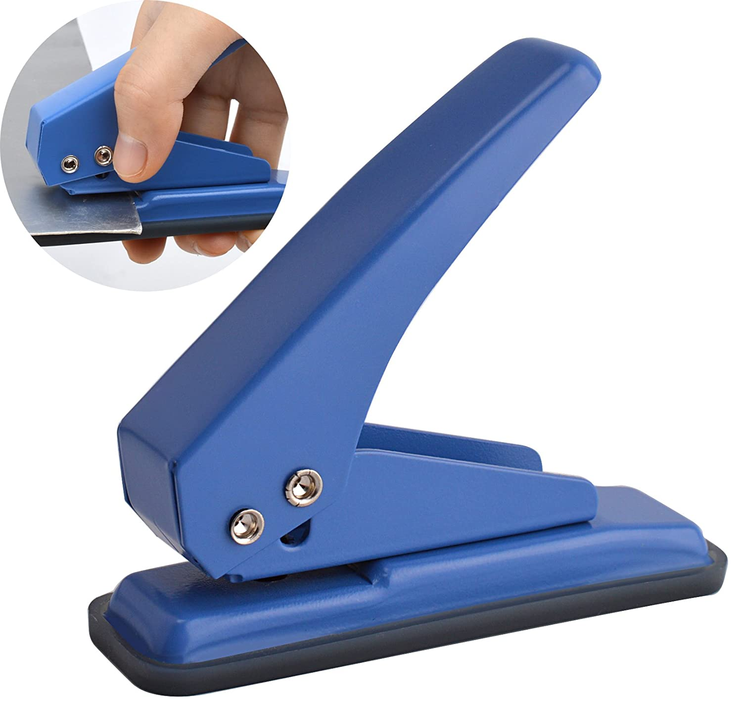Mroco Low Force 1 Hole Punch 20 Sheets Punch Capacity 14 Holes Hole Puncher Paper Punch Hand Punch With Skid Resistant Base For Paper
