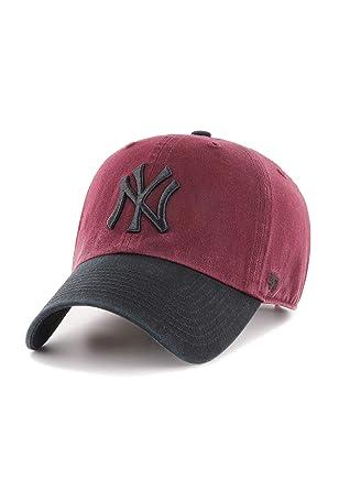 Gorra Curva New York Yankees 47 Dark Maroon Black