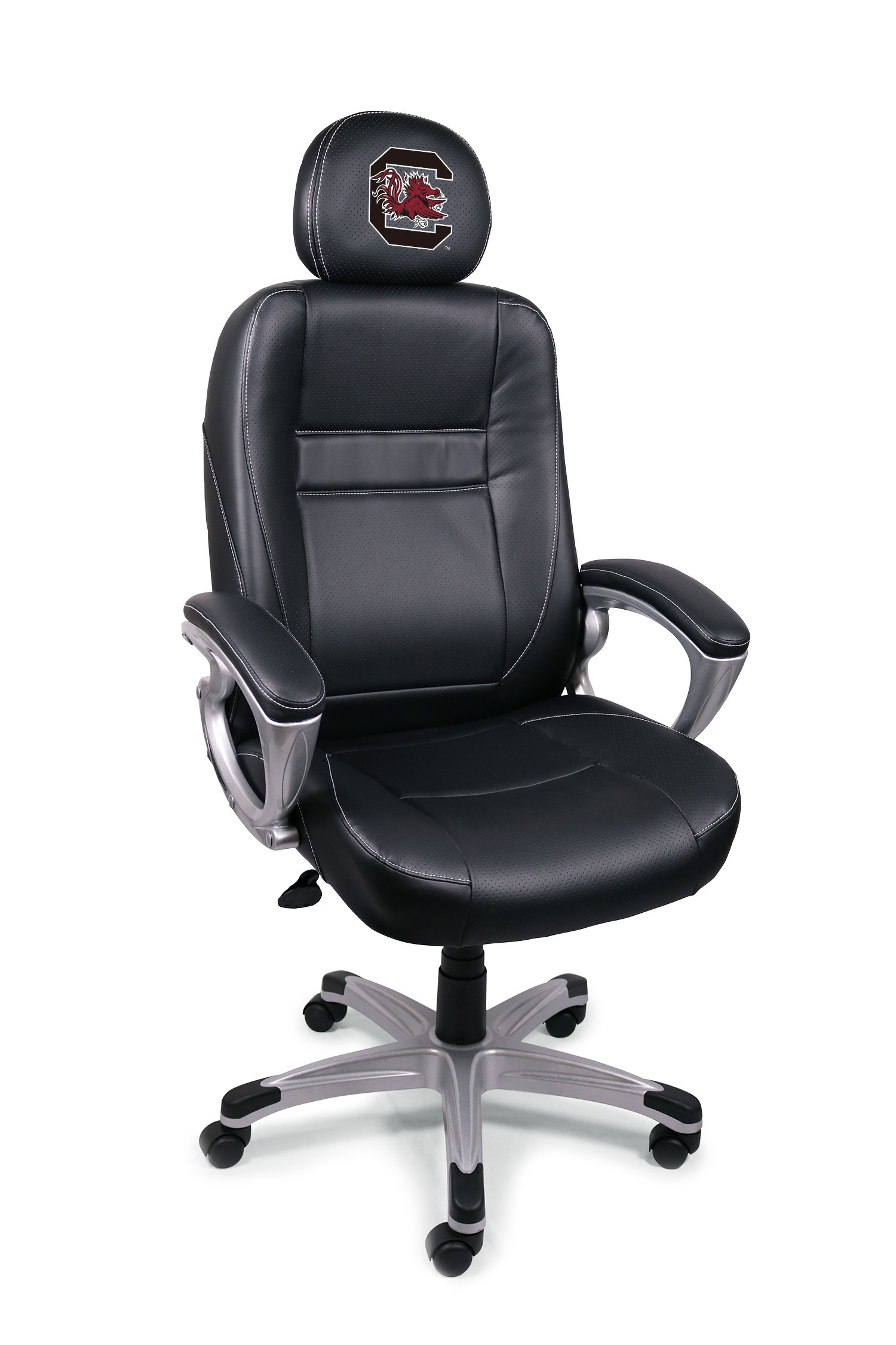 Wild Sports NCAA College South Carolina Gamecocks Leather Office Chair