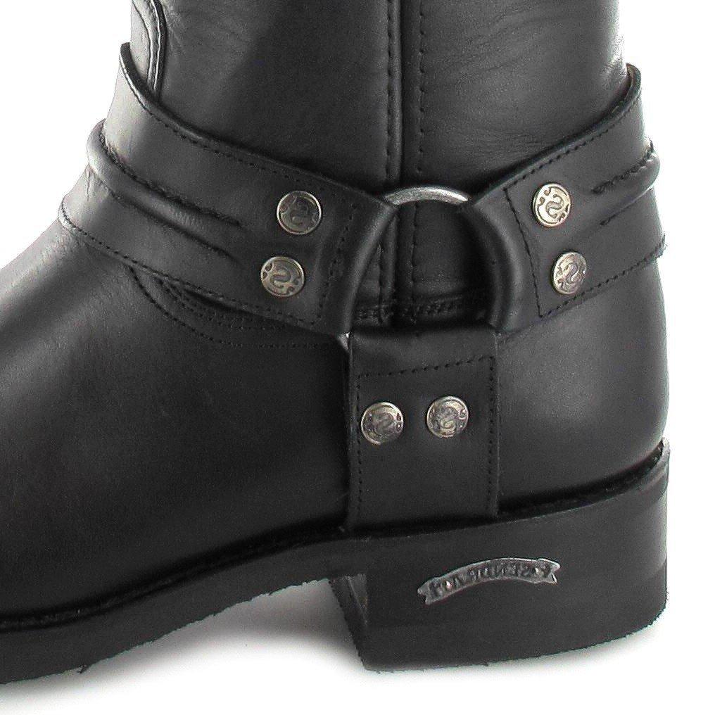 Sendra Boots Lederstiefel 2380 Pull Oil Negro Lederstiefel Boots für Damen und Herren Schwarz Bikerstiefel Loren Negro 84280a