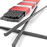 Tribal Cooking - Reusable Chopsticks - Japanese Chopstick Set - Fiberglass, Washable and Dishwasher Safe - Multipack 10 Pack