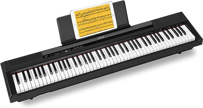 Donner Piano Numerique Electrique 88 Touches Semi Lestees Portable Clavier Fullsize Pour Debutant Avec Pedale Et Enceintes Integrees Dep 10 Amazon Fr Instruments De Musique