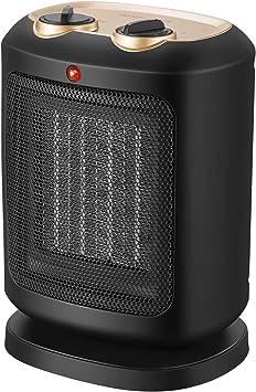 COMLIFE Calefactor Cerámico PTC 900W / 1800W Mini Ventilador de Calentacdor Eléctrico contra So...