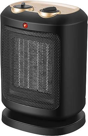 COMLIFE Calefactor Cerámico PTC 900W / 1800W Mini Ventilador de ...