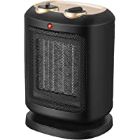 COMLIFE Calefactor Cerámico PTC 900W / 1800W, Ventilador de Calentacdor Eléctrico de Aire Caliente para Espacio Personal,Viento Natural y Caliente Seguro para Oficina y Hogar