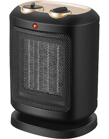 COMLIFE Calefactor Cerámico de Aire Calioente PTC 1200W/1800W Viento Natural y Caliente Seguro para