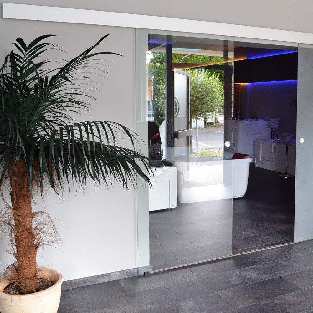 Puerta corrediza Puerta de Cristal puerta corredera de cristal 90 cm con conchas Mango: Amazon.es: Hogar