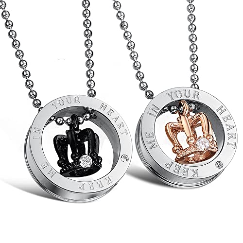 """1713195b30 Image Unavailable. Image not available for. Color: Starista Jewelry Engraved  """"Keep Me in Your Heart"""" Crown ..."""