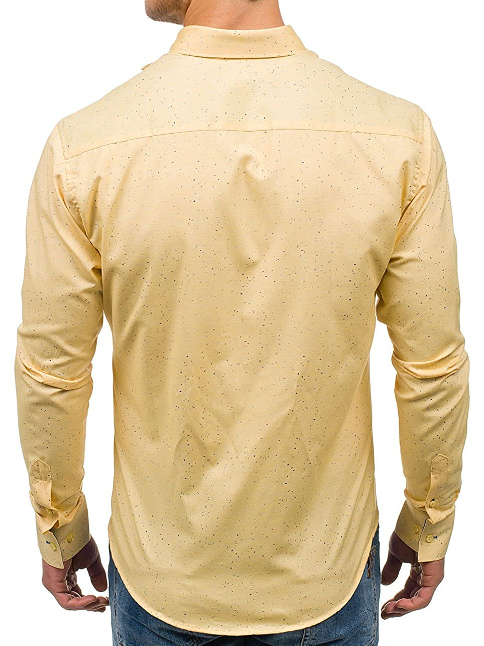 6ba9f9acb BOLF Hombre Camisa Elegante Abotonada Manga Larga Estilo Casual Mix BOLF  4747-1