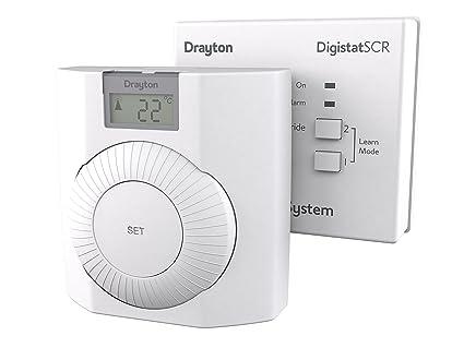 Outstanding Drayton Rf601 Thermostat White Amazon Co Uk Diy Tools Wiring Database Denligelartorg