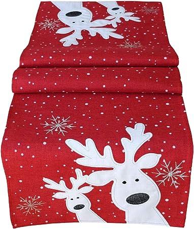 Raebel Camino de Mesa (40 x 140 cm Bordado Alce Rojo Navidad ...