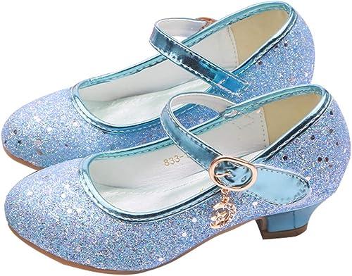LanXi M/ädchen Prinzessin Schuhe Glitzer Sandalen Schuhe M/ädchen Partei Kristall Schuhe Bowknot Hochzeitsschuhe Festschuhe Ballerina Absatz Schuhe