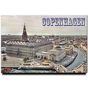 Copenhagen Fridge Magnet Christiansborg Palace Travel Souvenir Denmark