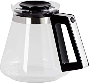 Melitta Replacement Jug Aroma Signature, Capacity 1.25 Litre, For Filter Coffee Makers Aroma Signature DeLuxe Black, Black/Silver