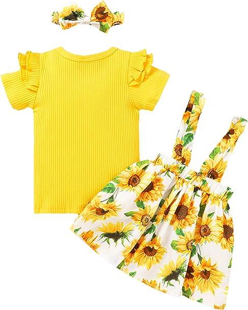 DaMohony Camiseta de tirantes con estampado de flores y pantalones cortos de girasol