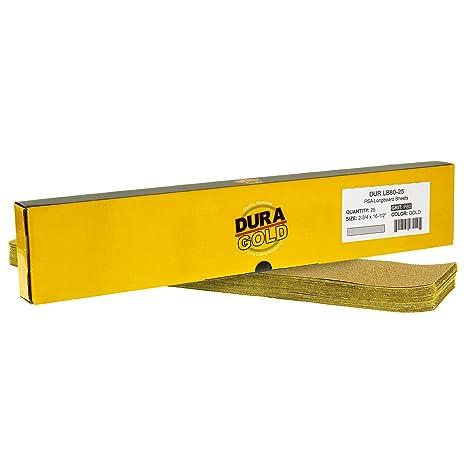 Amazon.com: Dura-Gold – Premium – 40 hojas de lija doradas ...
