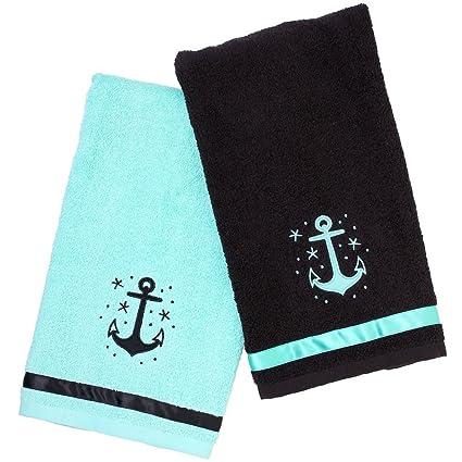 Charmant Sourpuss Clothing Anchor Bathroom Hand Towel Set
