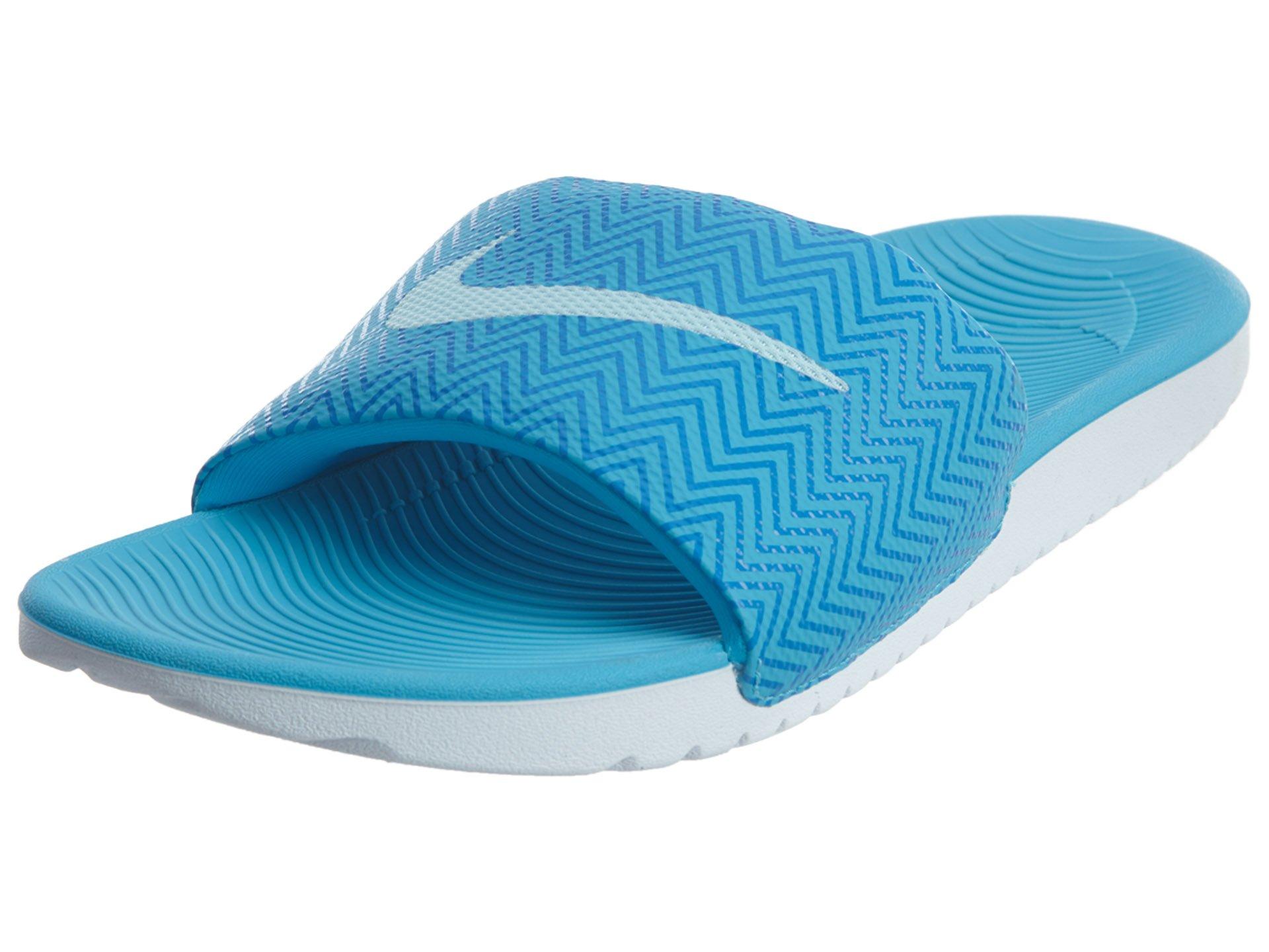 6f0982a4ec043 Galleon - Nike New Women s Kawa Slide Print Chlorine Blue Glacier 6