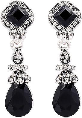 Onyx and silver dangle earrings boho-chic earrings Vintage silver and onyx earrings Bohemian earrings