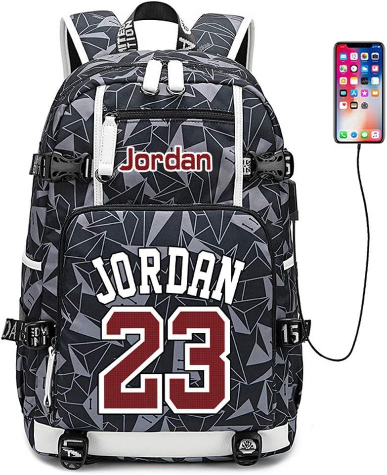 Basketball Player Star Jordan Multifunction Backpack Travel Student Backpack Fans Bookbag For Men Women (Style 9)
