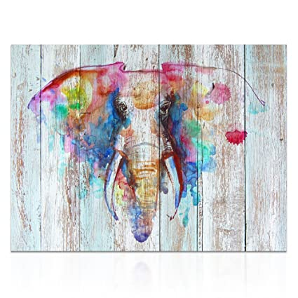 92cba94aa Visual Art Decor Large Abstract Elephant Painting Prints Creative Canvas  Prints Wall Decor Dual View Picture