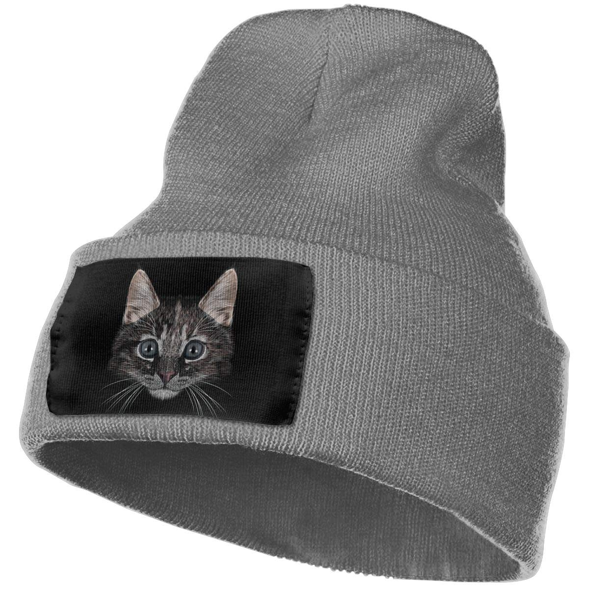 Cat Warm Winter Hat Knit Beanie Skull Cap Cuff Beanie Hat Winter Hats for Men /& Women